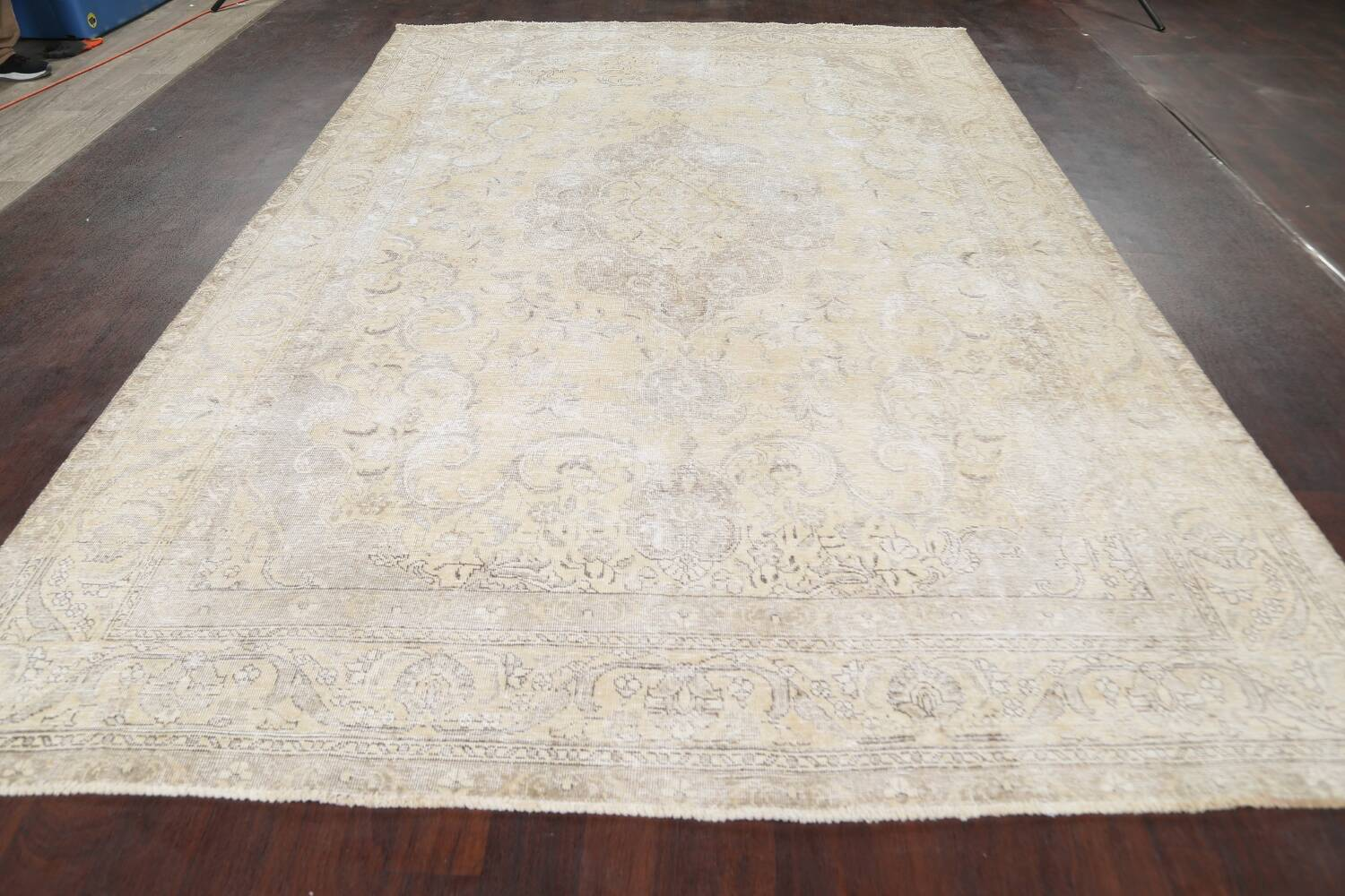 Muted Distressed Tabriz Persian Area Rug 8x12 image 16