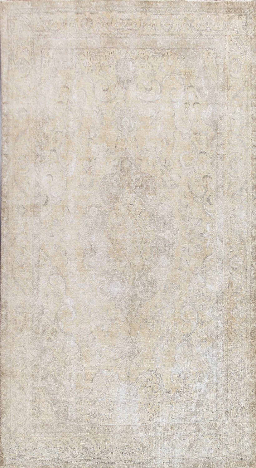 Muted Distressed Tabriz Persian Area Rug 8x12 image 1
