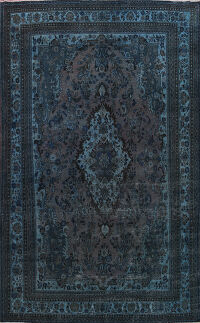 Over-dyed Hamedan Persian Area Rug 9x12
