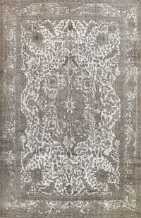 Distressed Over-dyed Tabriz Persian Area Rug 10x12