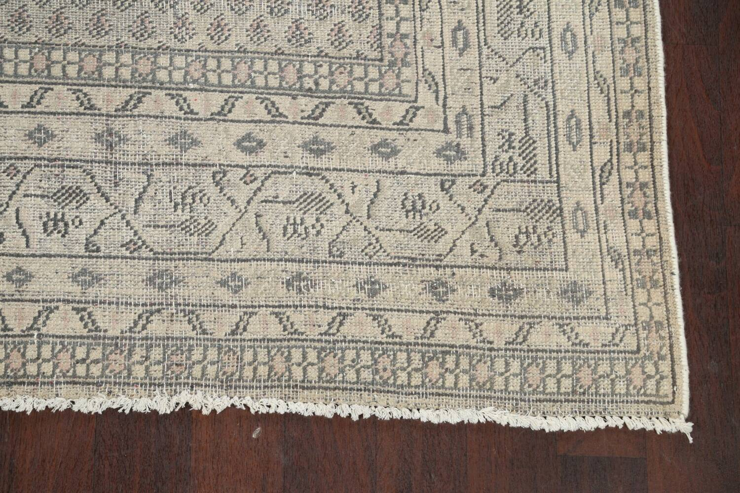 Muted Distressed Botemir Persian Area Rug 7x10 image 5