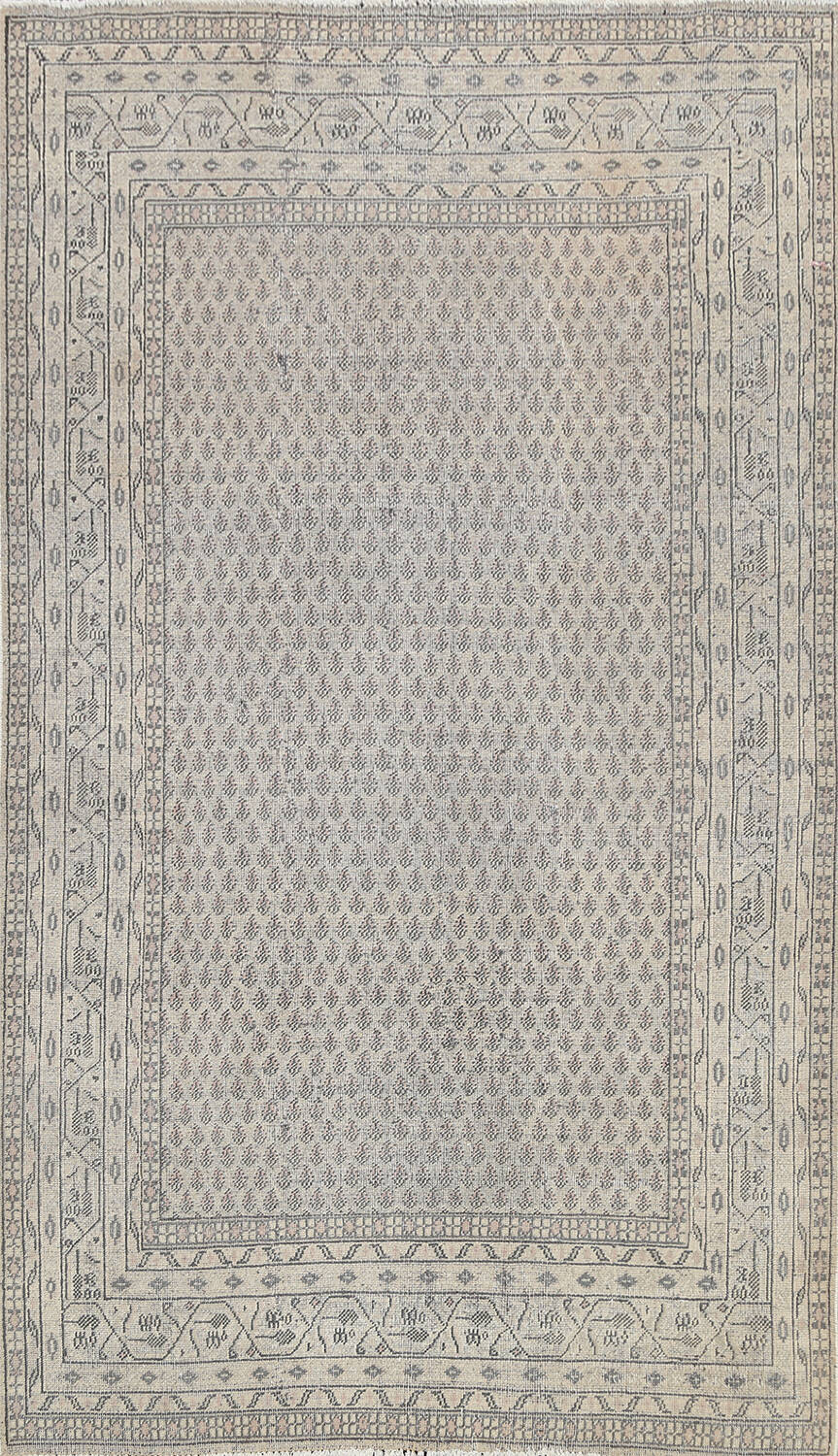 Muted Distressed Botemir Persian Area Rug 7x10 image 1