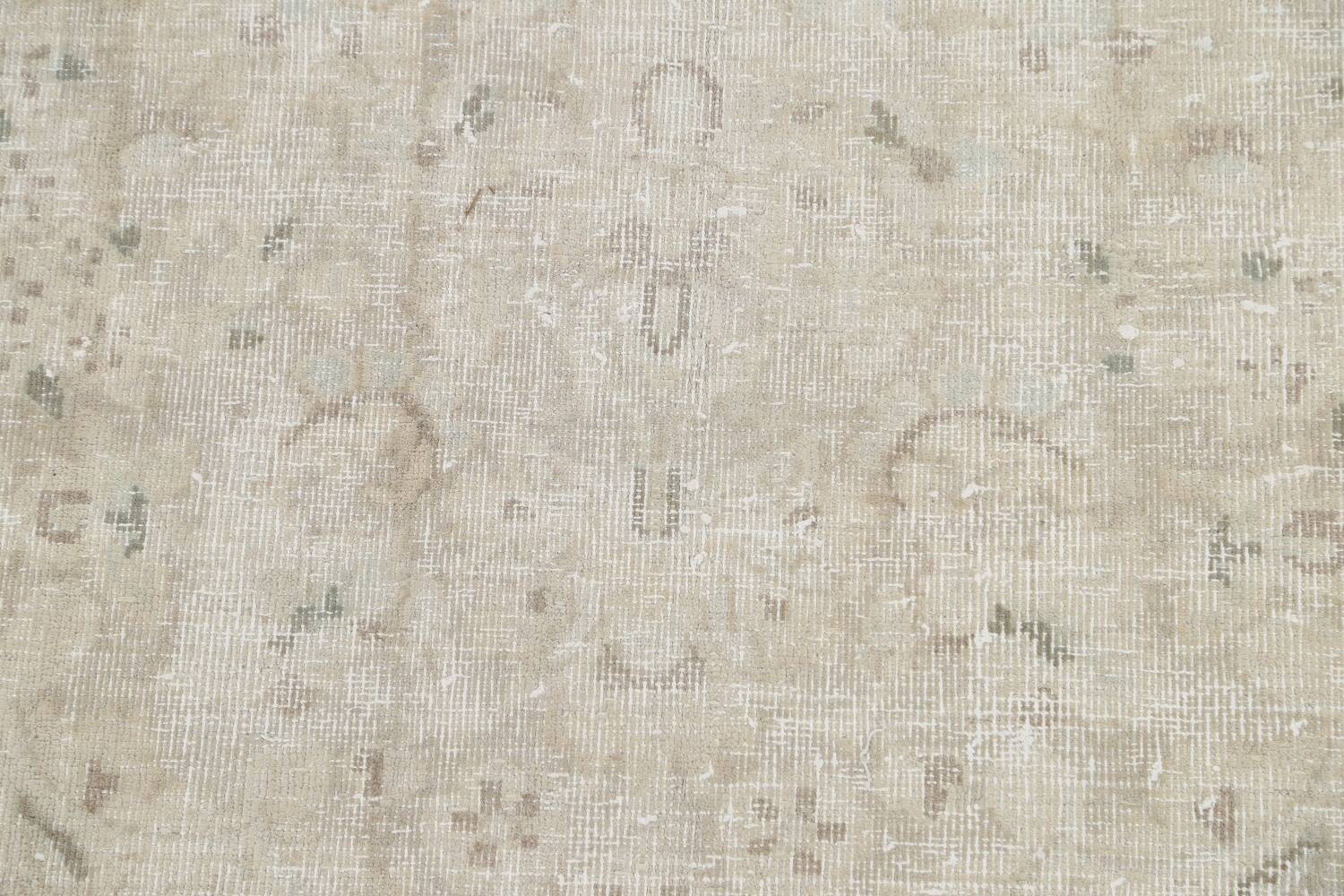 Muted Distressed Tabriz Persian Area Rug 10x12 image 10