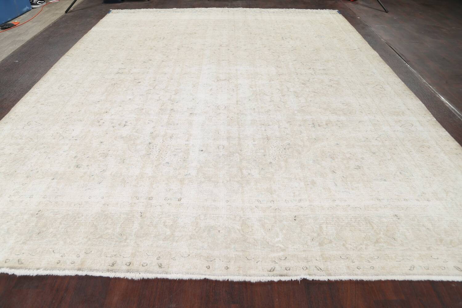 Muted Distressed Tabriz Persian Area Rug 10x12 image 17