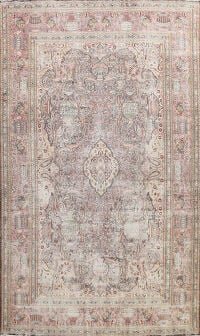 Muted Distressed Kashmar Persian Area Rug 9x13