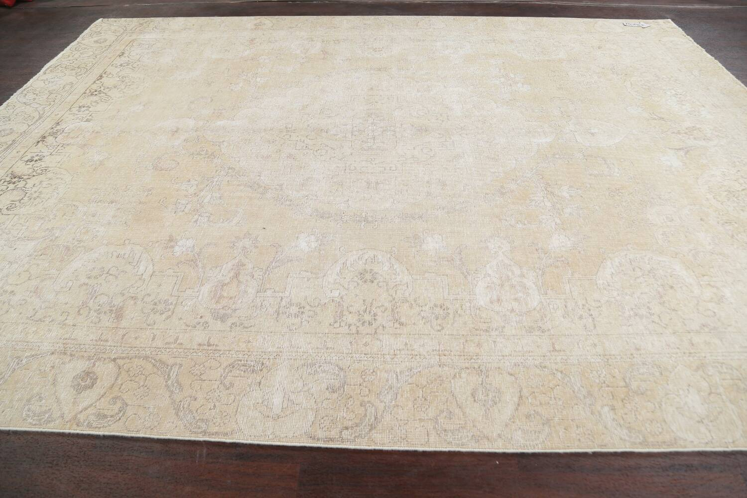 Muted Distressed Tabriz Persian Area Rug 9x12 image 15
