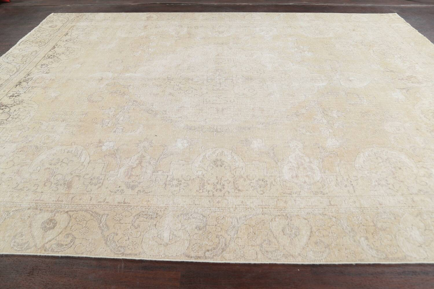 Muted Distressed Tabriz Persian Area Rug 9x12 image 18