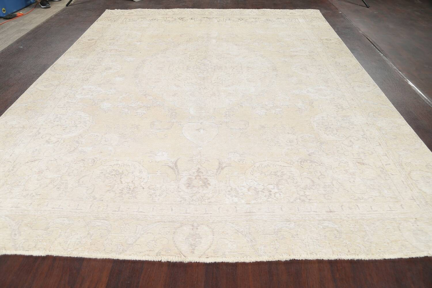 Muted Distressed Tabriz Persian Area Rug 9x12 image 19
