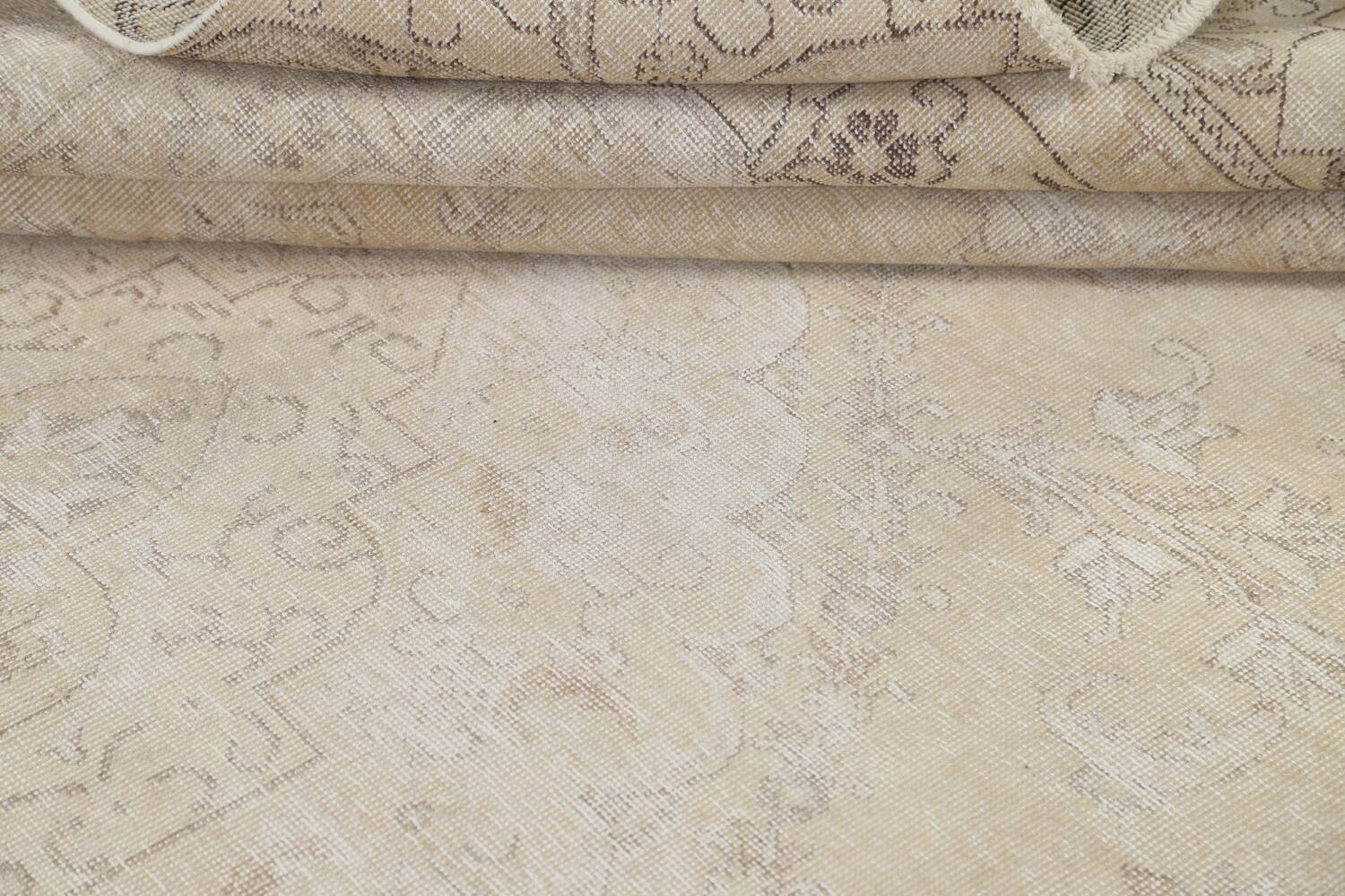 Muted Distressed Tabriz Persian Area Rug 9x12 image 20