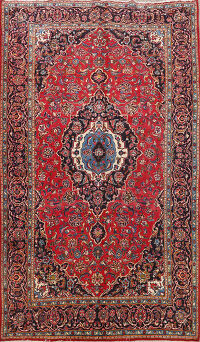 Floral Kashan Persian Area Rug 7x10