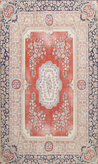 Traditional Floral Kerman Persian Area Rug 8x11