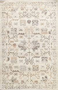 Geometric Modern Trellis Indian Oriental Area Rug 5x7