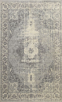 Distressed Traditional Indian Oriental Area Rug 5x7