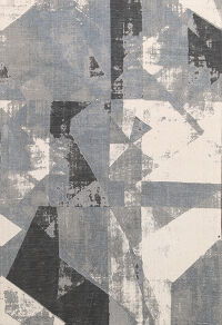 Abstract Modern Oriental Area Rug 5x6