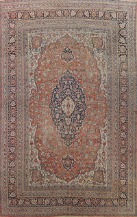 Pre-1900 Antique Vegetable Dye Dorokhsh Persian Area Rug 10x14