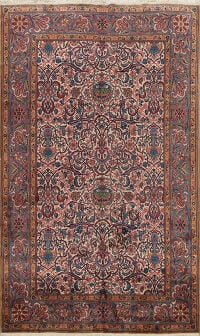 All-Over Floral Kerman Persian Area Rug 6x9