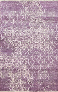 Distressed Modern Oriental Area Rug 6x8