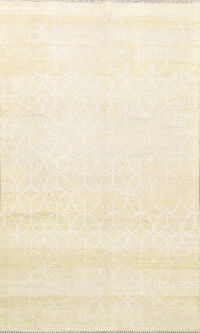 Muted Distressed Modern Oriental Area Rug 5x8