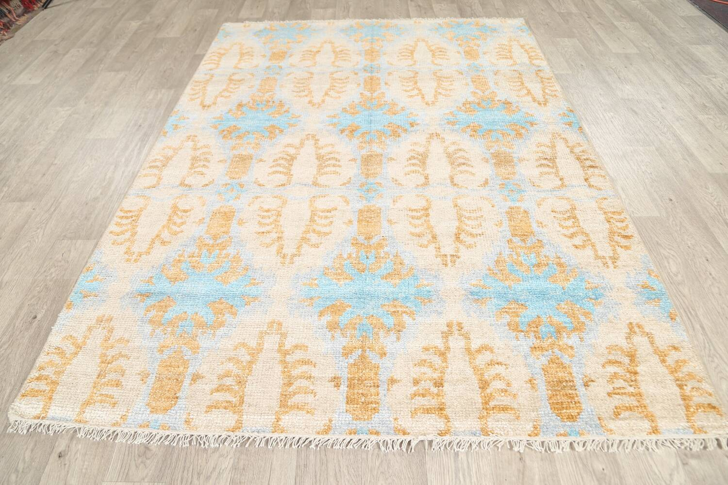 All-Over Modern Oriental Area Rug 6x8 image 8