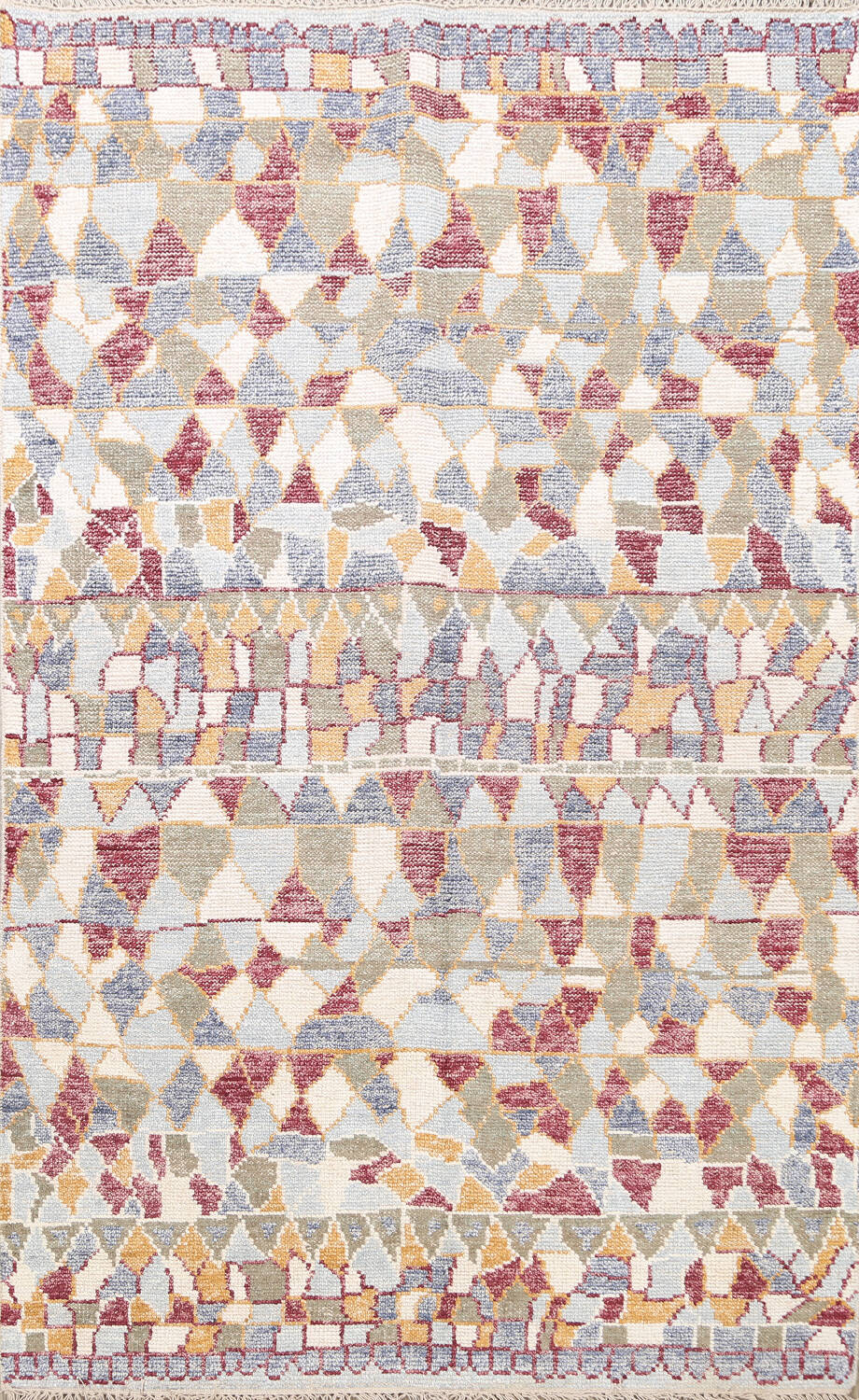 All-Over Modern Oriental Area Rug 5x8 image 1