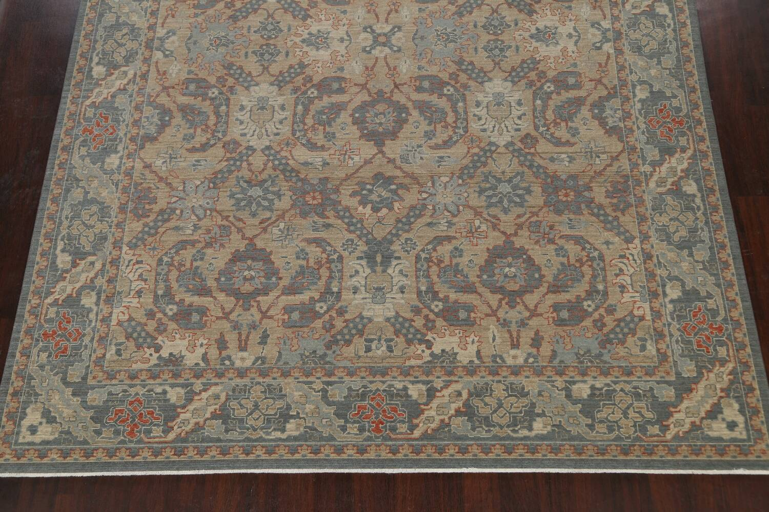 Silver Washed Ziegler Turkish Area Rug 9x12 image 8