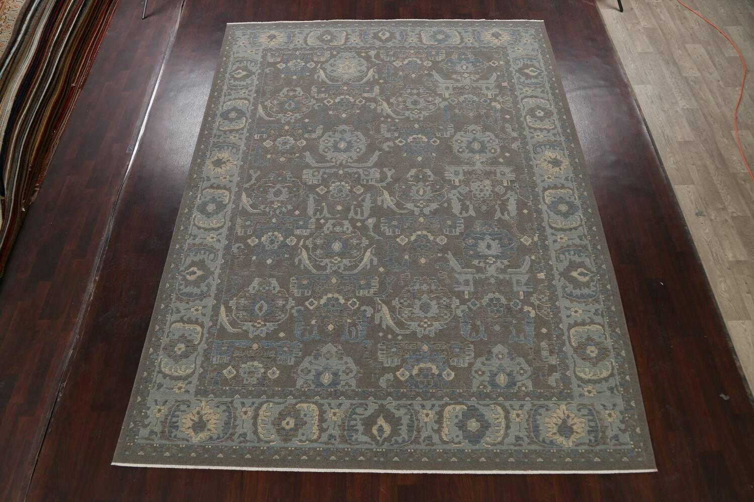 Silver Washed Ziegler Turkish Area Rug 9x12 image 2