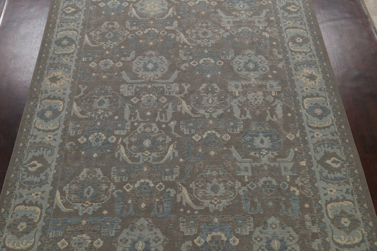 Silver Washed Ziegler Turkish Area Rug 9x12 image 3