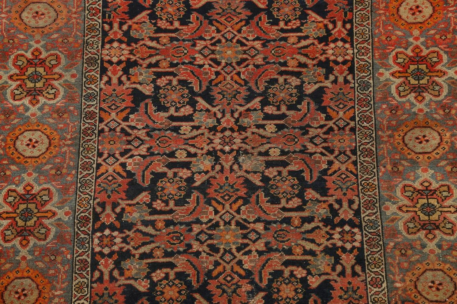 Pre-1900 Antique Vegetable Dye Malayer Persian Area Rug 4x6 image 4