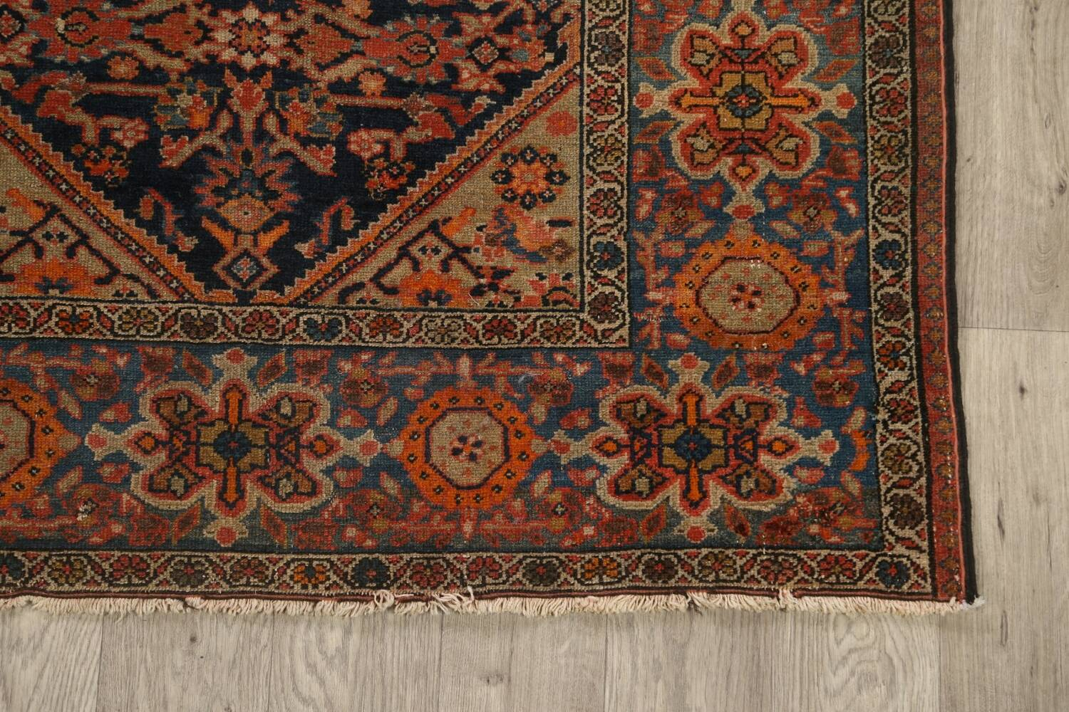 Pre-1900 Antique Vegetable Dye Malayer Persian Area Rug 4x6 image 5