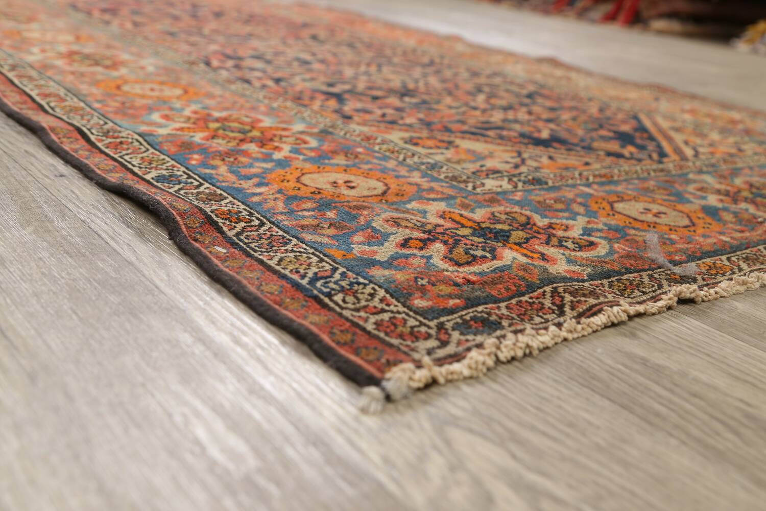 Pre-1900 Antique Vegetable Dye Malayer Persian Area Rug 4x6 image 6