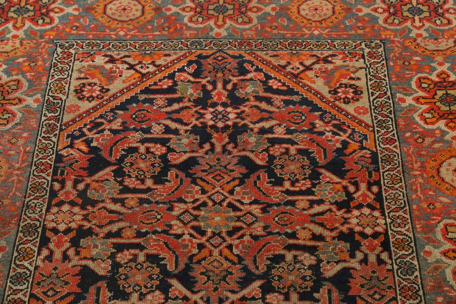 Pre-1900 Antique Vegetable Dye Malayer Persian Area Rug 4x6 image 12