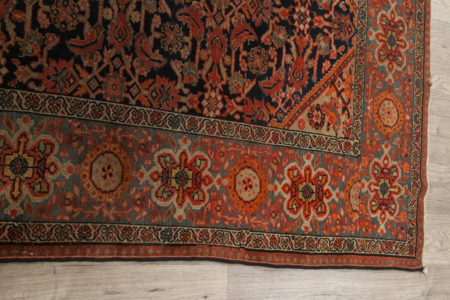 Pre-1900 Antique Vegetable Dye Malayer Persian Area Rug 4x6 image 13
