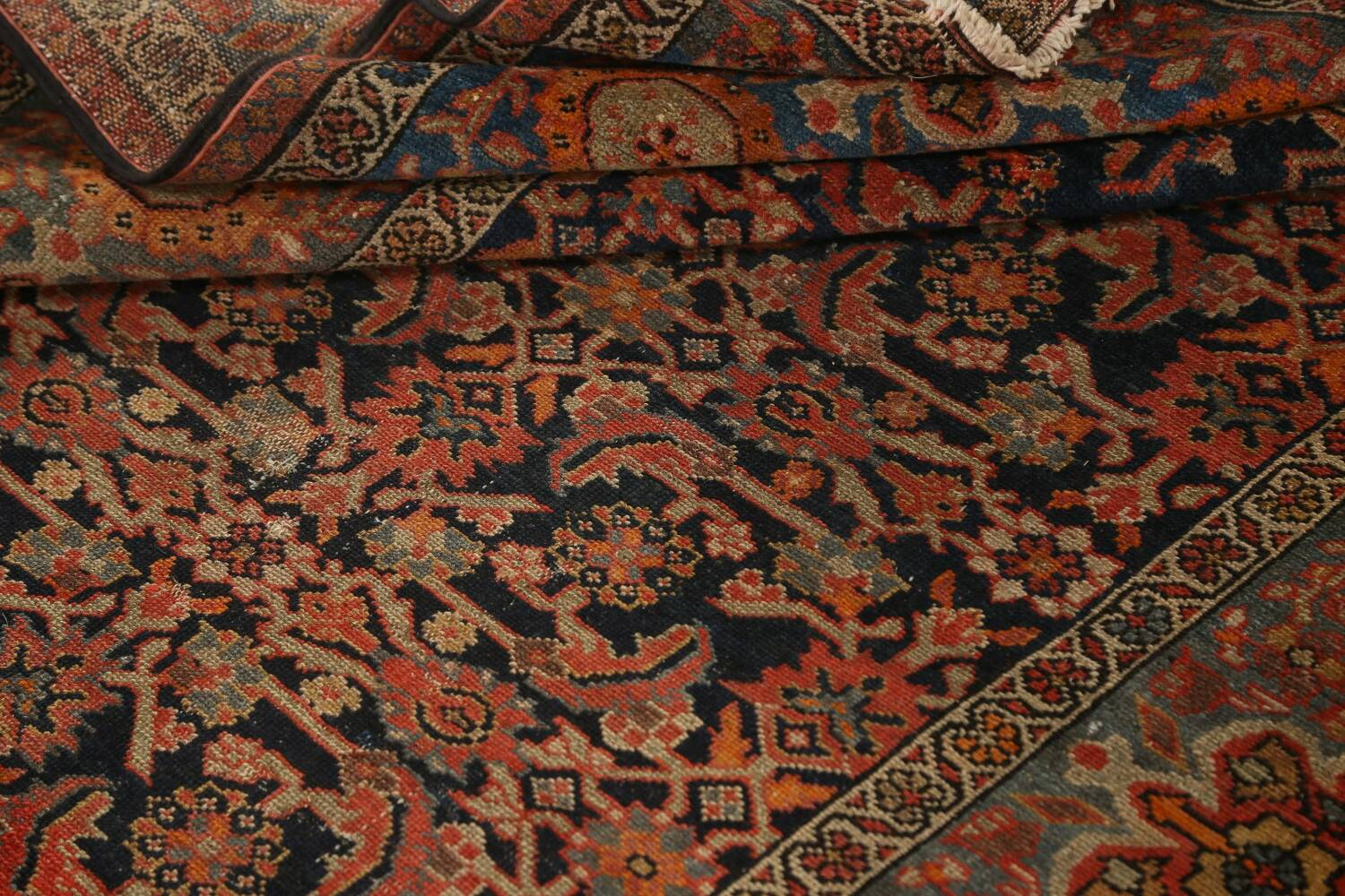 Pre-1900 Antique Vegetable Dye Malayer Persian Area Rug 4x6 image 16
