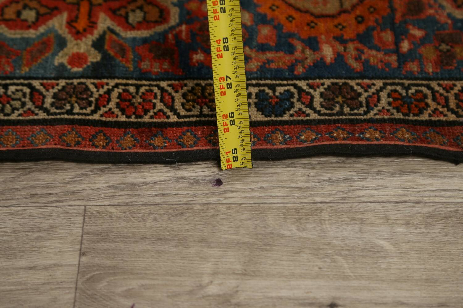 Pre-1900 Antique Vegetable Dye Malayer Persian Area Rug 4x6 image 19