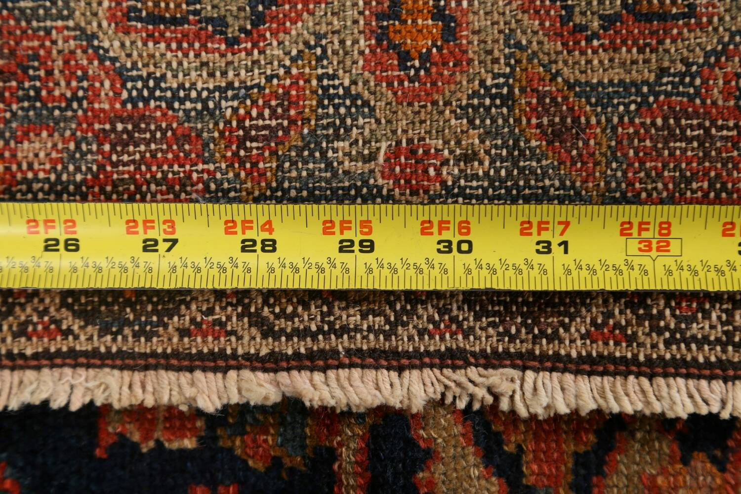 Pre-1900 Antique Vegetable Dye Malayer Persian Area Rug 4x6 image 20