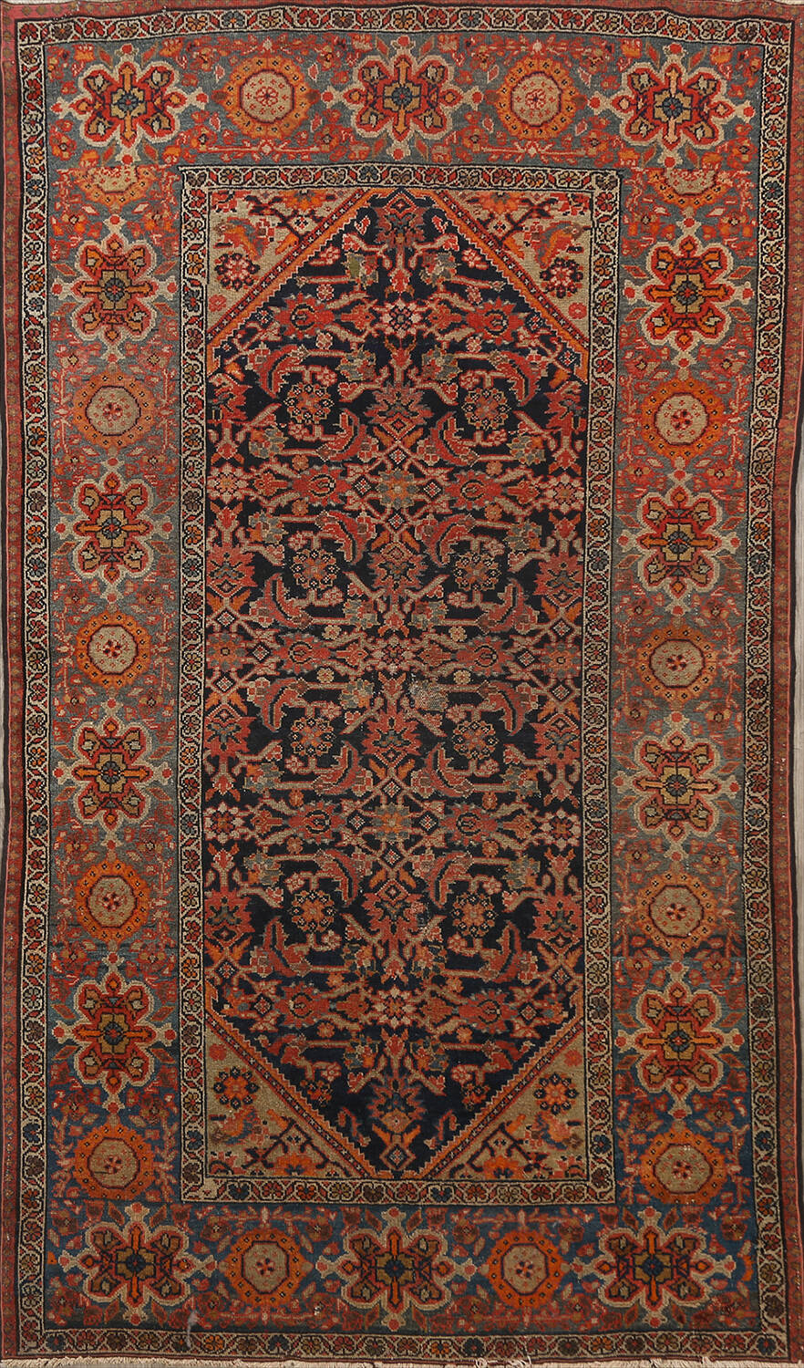 Pre-1900 Antique Vegetable Dye Malayer Persian Area Rug 4x6 image 1