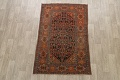 Pre-1900 Antique Vegetable Dye Malayer Persian Area Rug 4x6 image 2