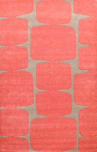 Abstract Modern Oriental Area Rug 8x10