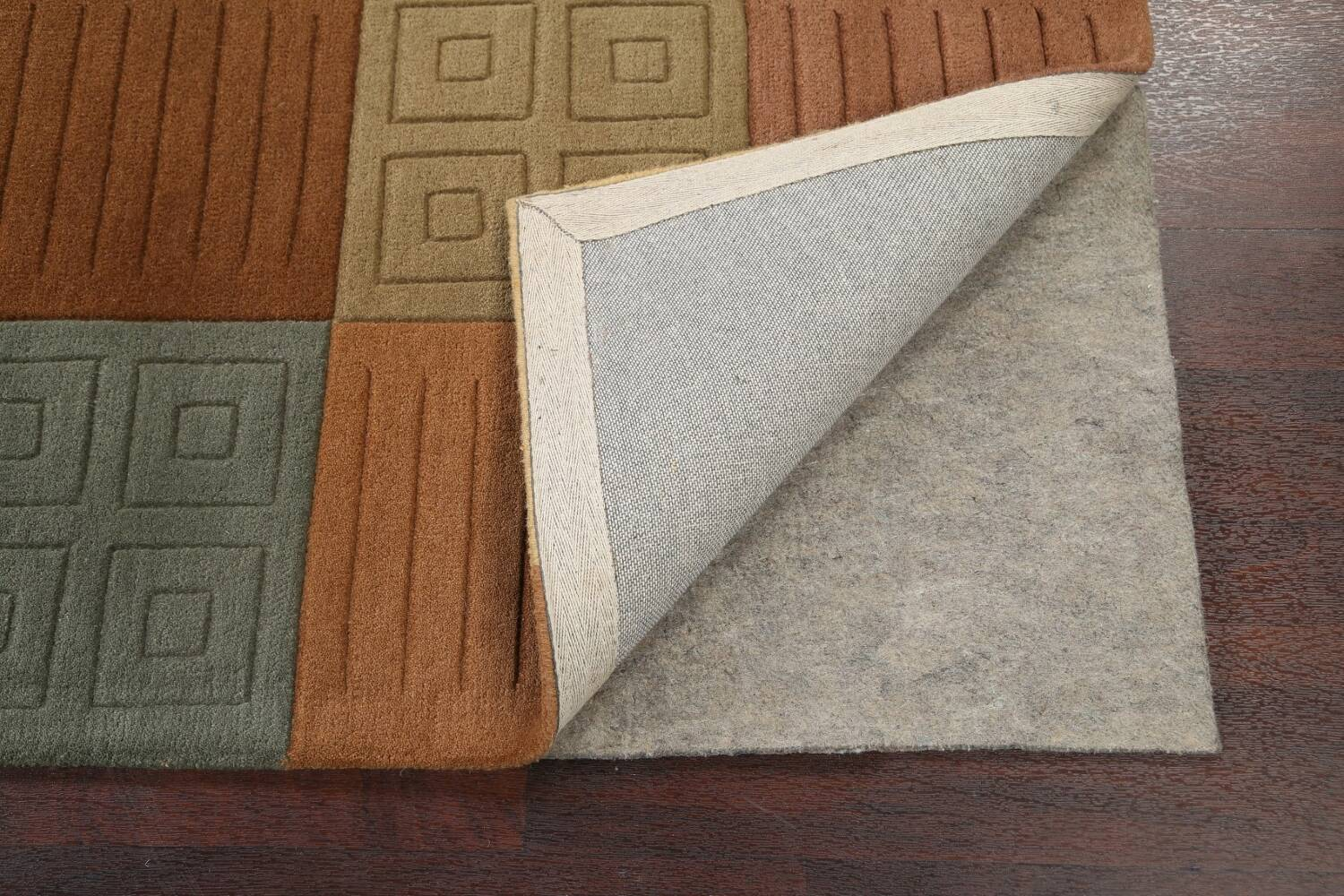Modern Checked Oriental Area Rug 8x10 image 7