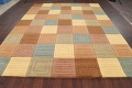 Modern Checked Oriental Area Rug 8x10 image 9