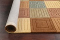 Modern Checked Oriental Area Rug 8x10 image 10