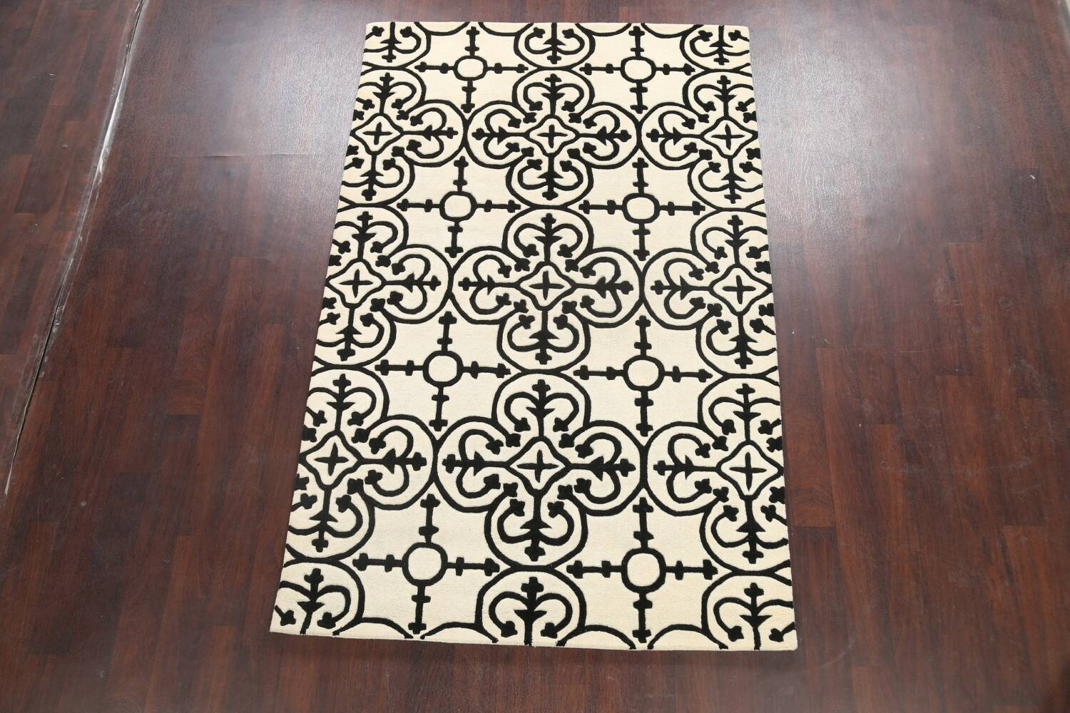 All-Over Modern Oriental Area Rug 5x8 image 2