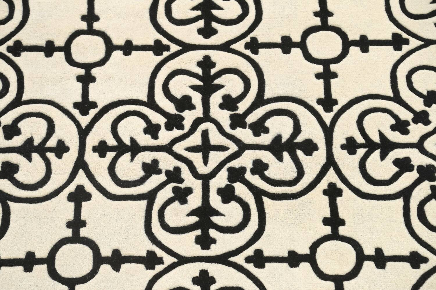 All-Over Modern Oriental Area Rug 5x8 image 4