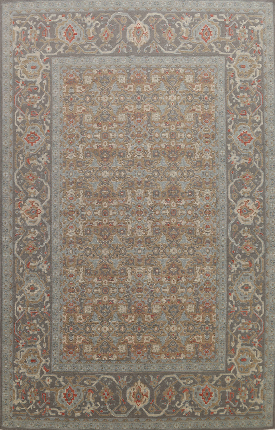 Silver Washed Ziegler Turkish Area Rug 9x12 image 1