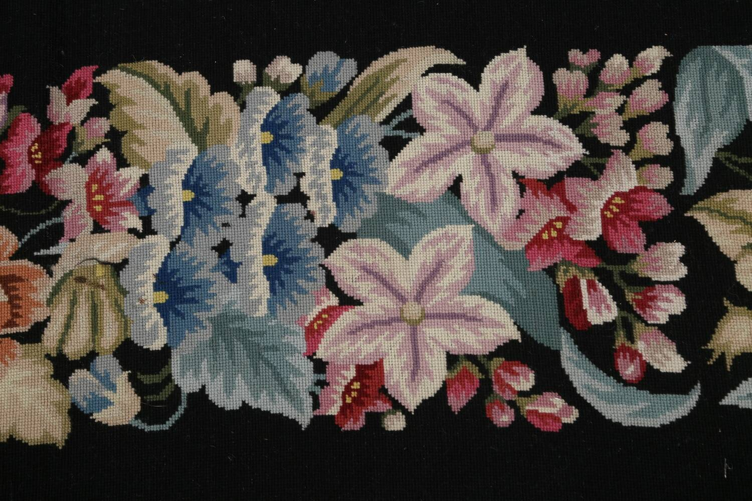 All-Over Floral Needlepoint Oriental Area Rug 10x14 image 9