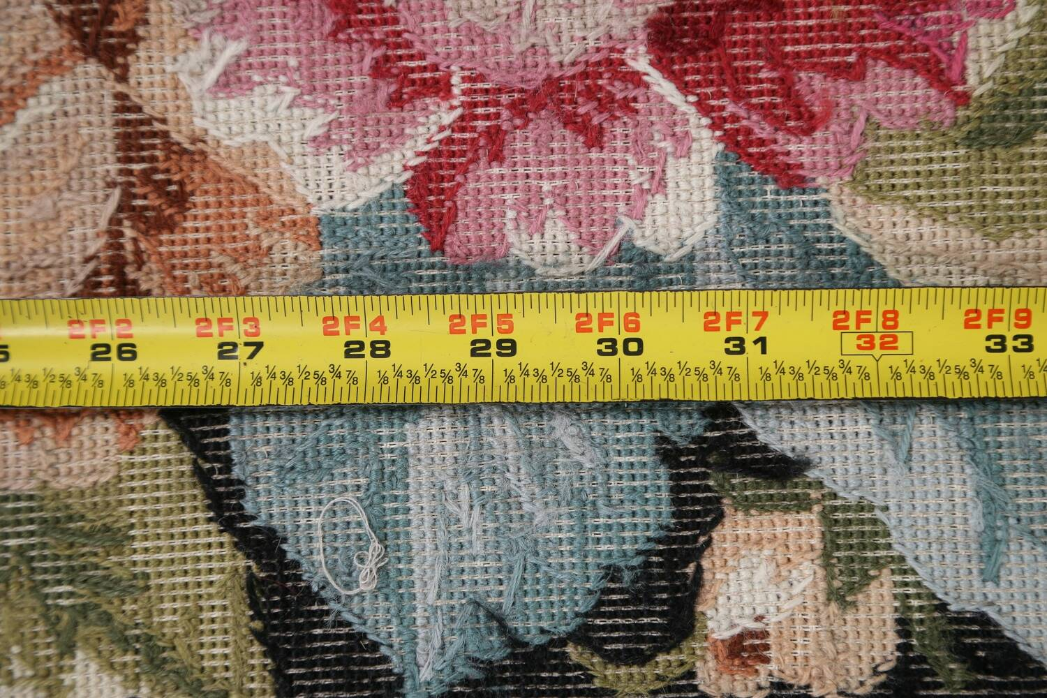 All-Over Floral Needlepoint Oriental Area Rug 10x14 image 19