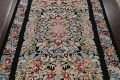 All-Over Floral Needlepoint Oriental Area Rug 10x14 image 3