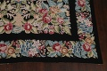 All-Over Floral Needlepoint Oriental Area Rug 10x14 image 5