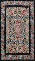 All-Over Floral Needlepoint Oriental Area Rug 10x14 image 1