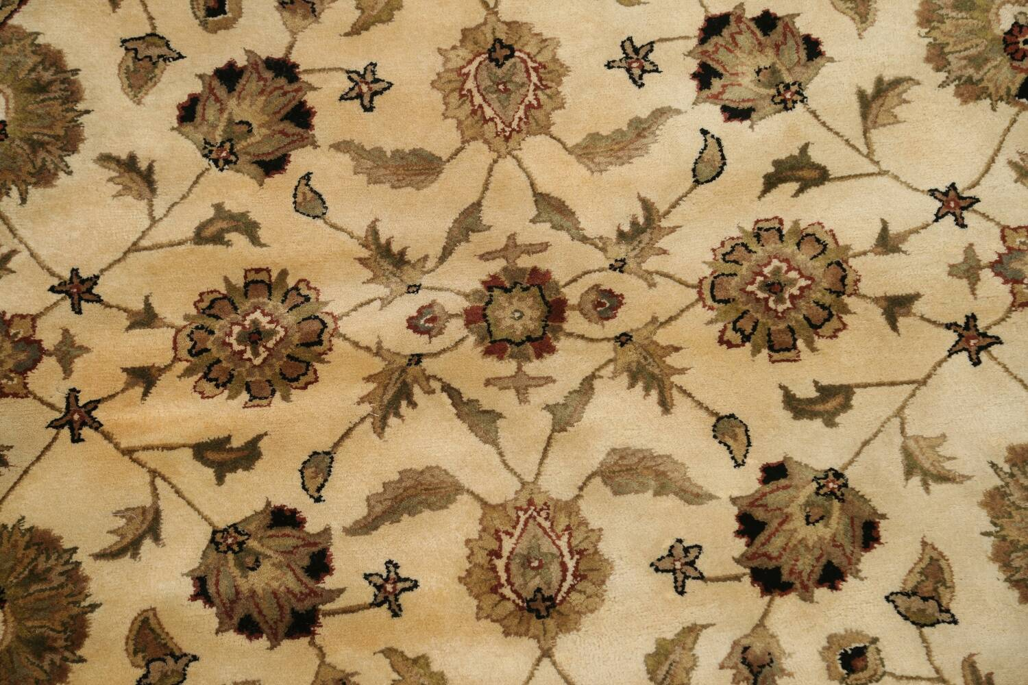 Floral Agra Oriental Area Rug 6x6 Round image 4